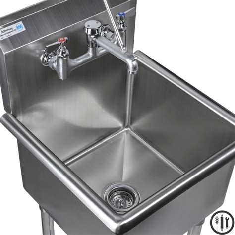 Stainless Steel Mop Sink Service Sink Faucet And Mop
