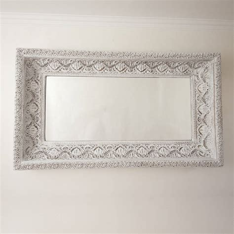 shabby chic mirror carved white shabby chic mirror by decorative mirrors online notonthehighstreet com