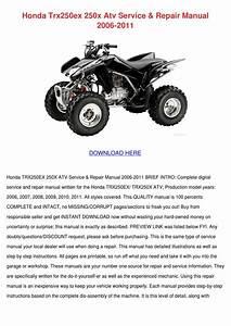 Honda Trx250ex 250x Atv Service Repair Manual By Shakita