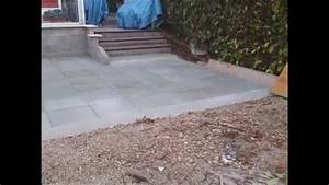 terrasse en dalle beton sur lit de sable youtube With comment faire une dalle beton pour terrasse