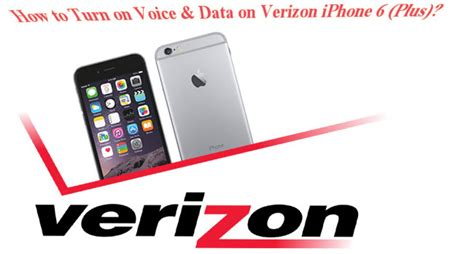how to turn voice iphone how to turn on voice data on verizon iphone 6 plus