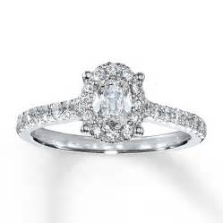 oval engagement rings jared engagement ring 1 ct tw oval 14k white gold