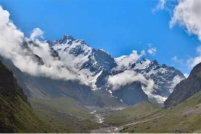 Europe Mountain Highest Panorama Mountains Caucasian Massif