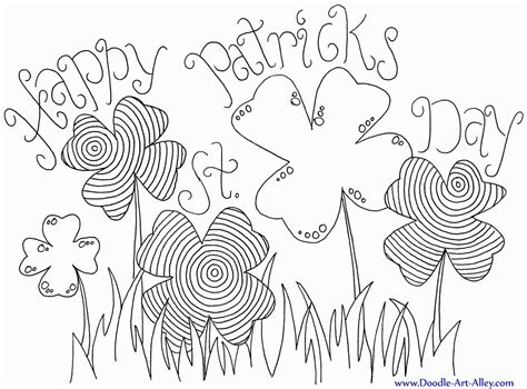 st patrick day shamrock coloring pages coloring home