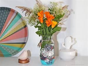 Pot En Verre Deco : transformer un pot en verre en vase d co diy purple jumble ~ Melissatoandfro.com Idées de Décoration