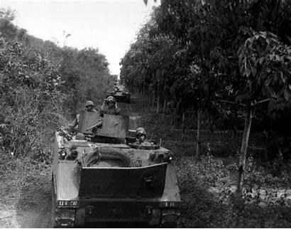 Vietnam War Jungle M113 Convoy Falls Cedar