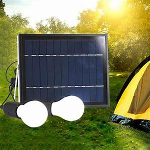 Outdoor solar power panel led light lamp usb charger