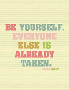 Be Yourself Quotes Cute. QuotesGram
