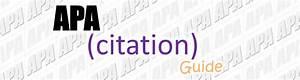Apa - Apa Citation Guide