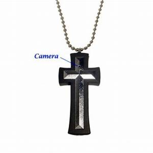 CROSS NECKLACE SPY BUTTONCAMERA - HIDDEN SPY CAMERA - SPY ...