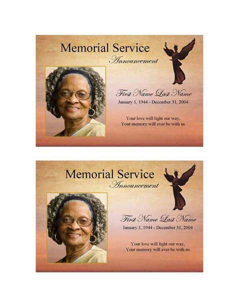 beloved angel funeral announcement template elegant