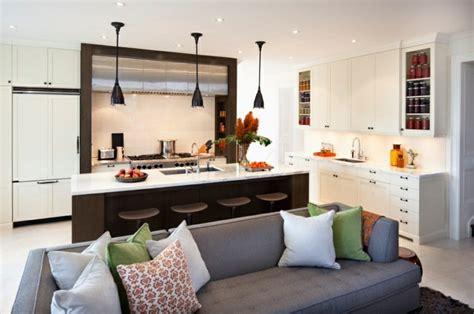 idee cuisine ouverte sur salon petit espace cuisine en image