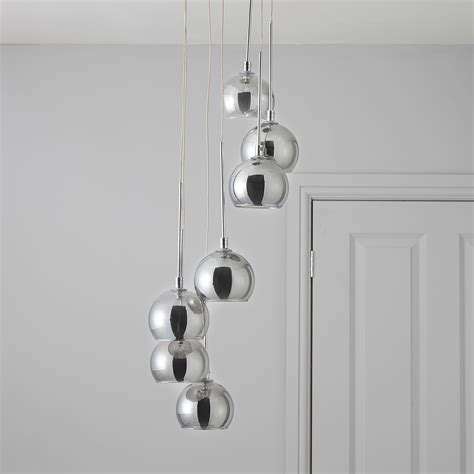 b q kitchen lights pegase smoked chrome effect 7 l pendant ceiling light 1411