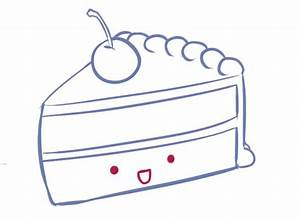 How To Draw a Slice of Cake! *cute* | Draw Your Heart Out ...