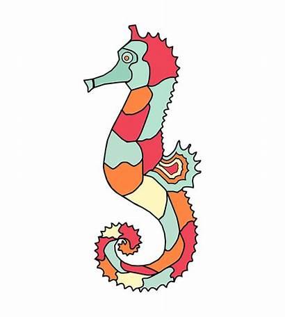 Seahorse Cartoon Animal Clipart Fish Sea Cat