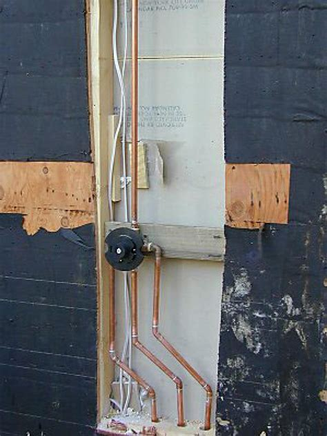 Shower Plumbing by How To Build An Outdoor Shower How Tos Diy