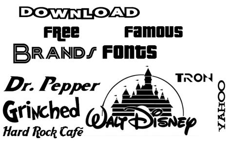 Download Most Famous Brand Logo Fonts [freebies]