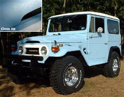 blue green jeep 74 fj 40 toyota landcruiser durabak d inside out with