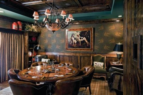 Full House: 12 Stylish Poker Rooms   Decor Ideas