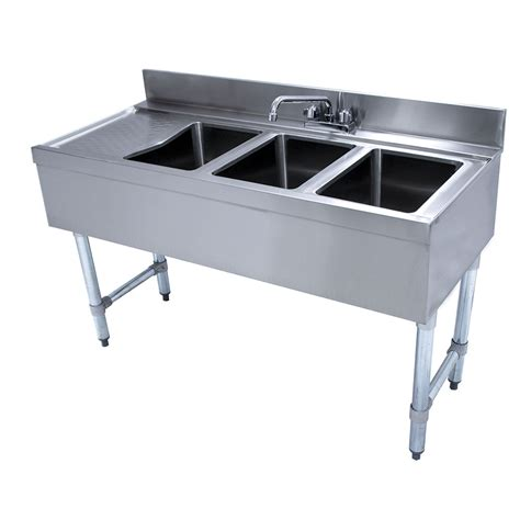 48 3 compartment sink advance tabco crb 43r x 48 quot 3 compartment sink w 10 quot l x