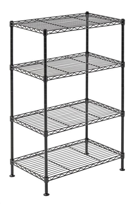 4 Tier Wire Shelving Rack Metal Shelf Adjustable Unit