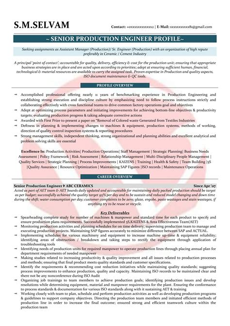 Production Resume Pdf by Production Executive Sle Resumes Resume Format Templates