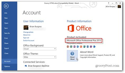 Office Version by How To Check Your Version Of Office 2013