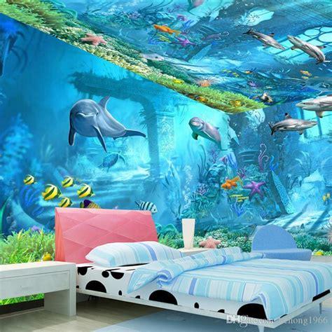 underwater world mural  wallpaper television kid