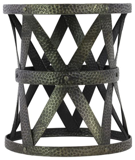 metal garden stool metal accent table accent and garden stools by