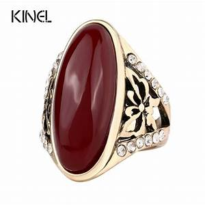 2017 Fashion Gold Color Rings For Women Unique Oval ...