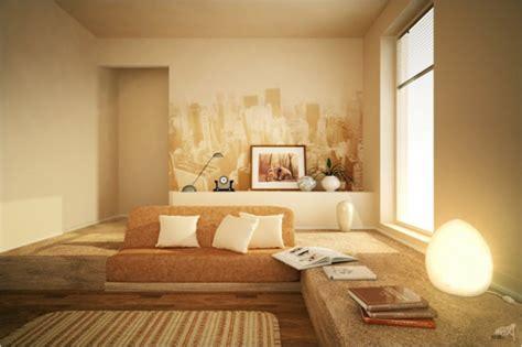wohnzimmer wandgestaltung farbe zimmerfarben inspiration f 252 r die wohnung