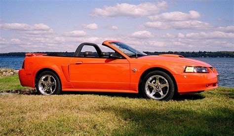 competition orange  ford mustang gt convertible