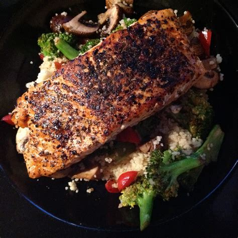 I think the trader joe's version was sweeter (notes on this in the recipe), and our coffee may have been stronger since it was ground immediately before making the blend, so it was a bit stronger. I'm in a rut, I know, but salmon rubbed with Trader Joe's South African Smoke is the best ...