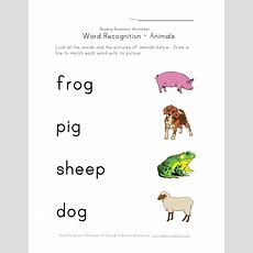 Animals Using First Letter Sounding  Homeschooling Sight
