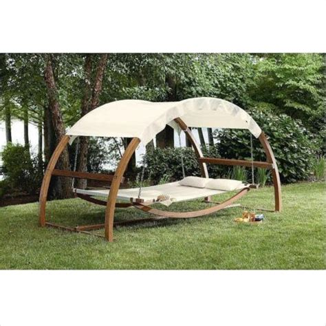 hammock with stand and canopy hammock daybed swing stand wood arch canopy bed patio