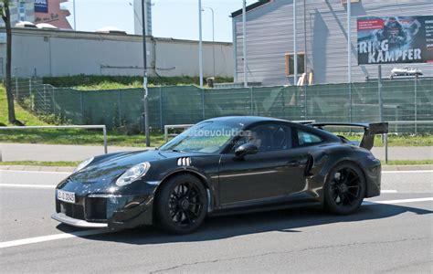 new porsche 911 new porsche 911 gt2 gt2 rs spied with racecar aero expect