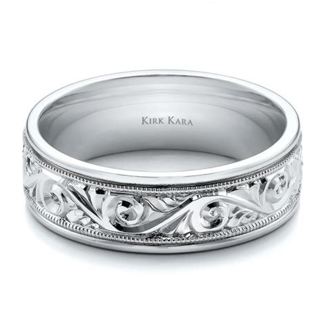 engraved men s wedding band kirk kara 100671 seattle bellevue joseph jewelry