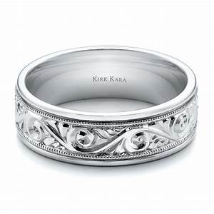 hand engraved men39s wedding band kirk kara 100671 With mens engraved wedding rings