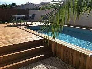 construire votre piscine dans le 30 et 34 gard herault With amenagement autour d une piscine hors sol 11 terrasse en bois composite timbertech terrain
