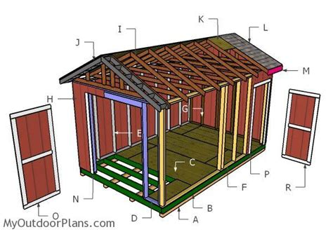 10 X 16 Gable Shed Plans by 10x16 Gable Shed Roof Plans Myoutdoorplans Free