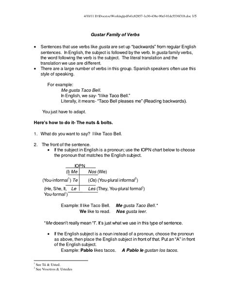 10 Best Images Of Worksheets Spanish Verb Gustar  Spanish Verb Gustar Worksheets, Spanish Verb