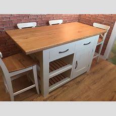 Handmade Kitchen Island  Solid Oak Top  Breakfast Bar