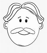 Clipart Coloring Moustache Beard Cartoon Daddy Mustache Clip I2clipart Transparent Netclipart Cliparts Domain sketch template