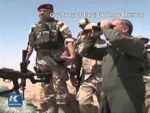 Iraqi defense minister escapes IS sniper fire - YouTube