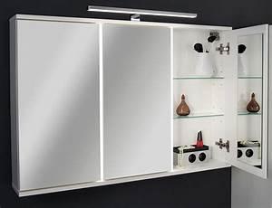 Spiegelschrank 100 Cm Led : fackelmann rondo spiegelschrank 100 5 x 68 cm mit led beleuchtung 73393 megabad ~ Indierocktalk.com Haus und Dekorationen