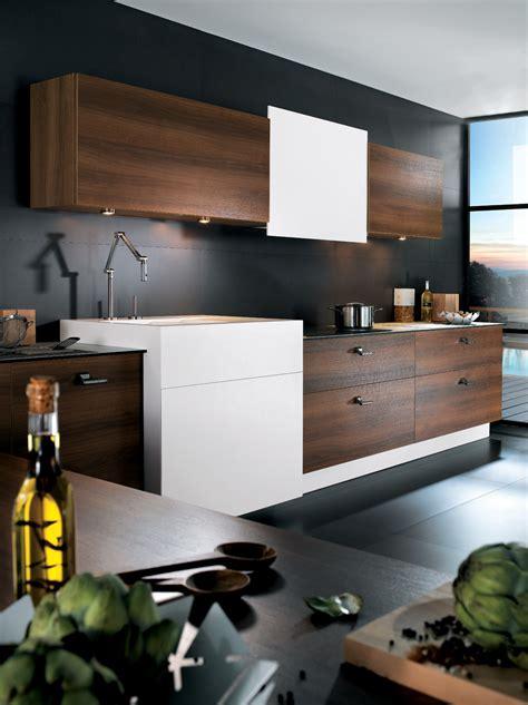 meuble haut cuisine laqué cuisine m100h mélaminé noyer tabac et corian perene lyon
