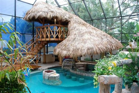 Small Tiki Hut by Small Pool Ideas For Indoor With Tiki Hut