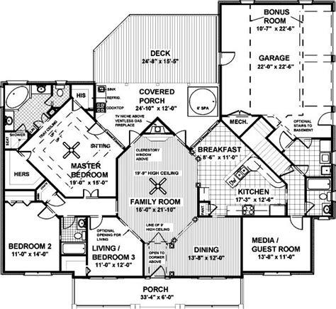 bedroom  bath southern house plan alp