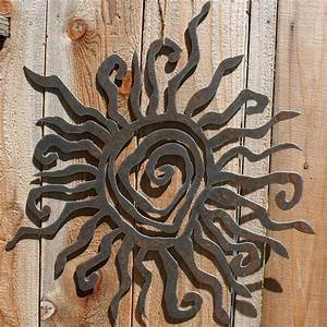 rustic sun indoor outdoor wall decor 30 by fttdesign on etsy With outside wall art