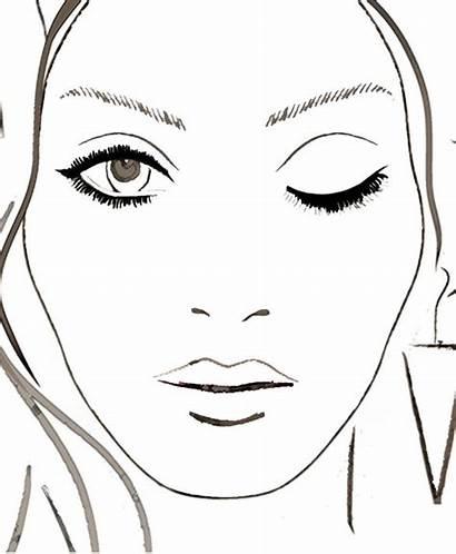 Blank Makeup Face Chart Charts Eye Closed